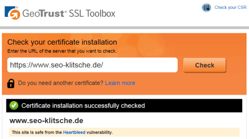 SEO-Klitsche goes SSL